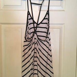 LF Dresses - black stripe mini dress from LF